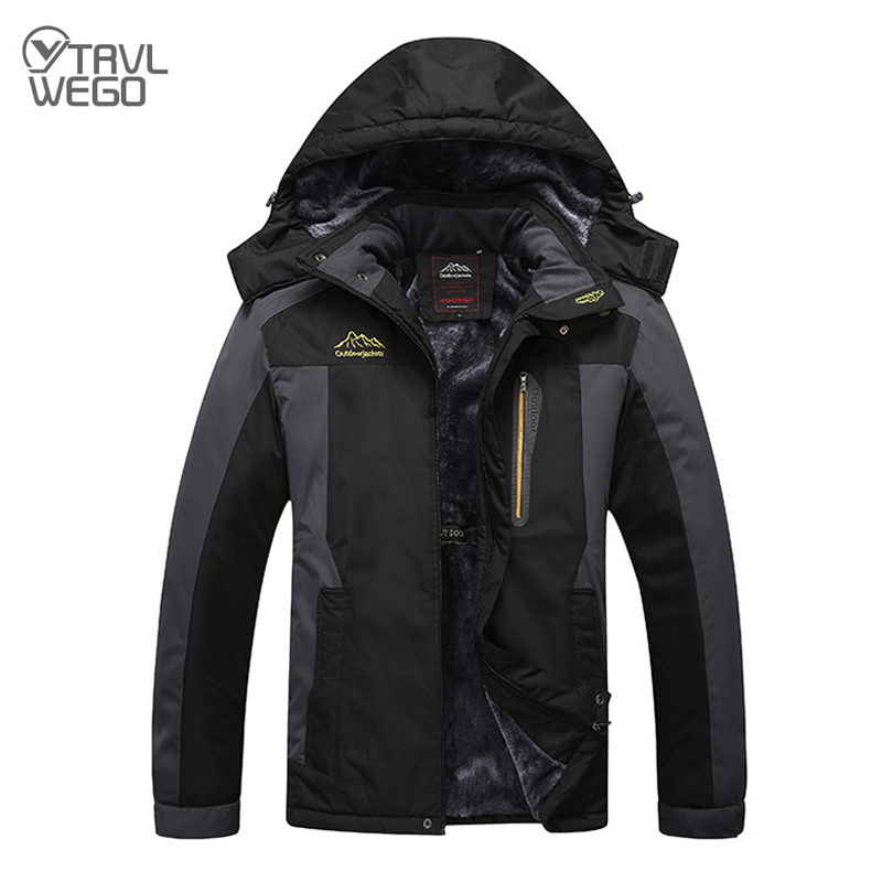 THE ARCTIC LIGHT Ski Jacket Men Waterproof Fleece Snow Thermal Coat For Outdoor Mountain Skiing Snowboard Jacket 195CM 9XL