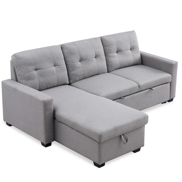Sectional Sofa Corner Bed With Storage  6