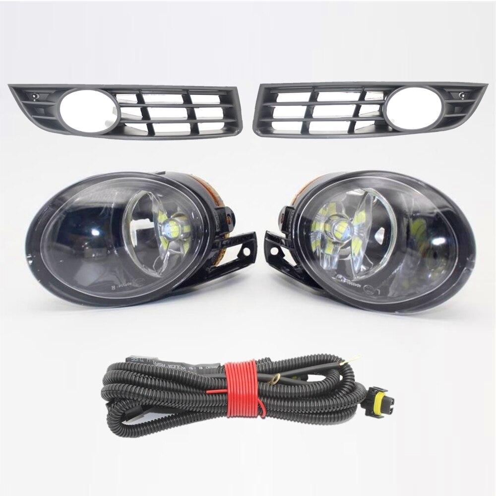 LED Car Light For VW Passat B6 2006 2007 2008 2009 2010 2011 Car-styling LED Fog Lamp Fog Light Grille Cover Harness Assembly