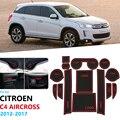 Противоскользящий резиновый подстаканник для Citroen C4 AirCross 2012 2013 2014 2015 2016 2017 Коврик для двери аксессуары наклейки
