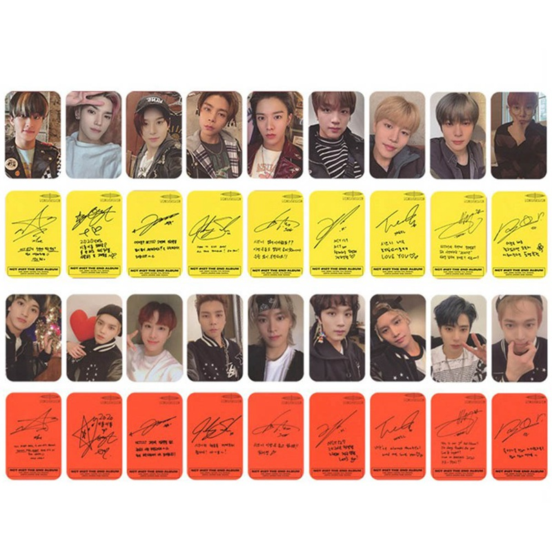 9 Pcs / Set NCT 127 Photo Signature Poster Lomo Cards Self Made Paper Photocard Card Cover Fans Gift Collection