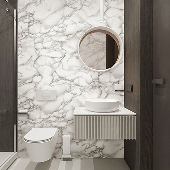 Modern 3D Marble Texture PVC Wallpaper Living Room Bedroom Bathroom Self-Adhesive Waterproof Wall Paper For Walls 3 D Home Decor