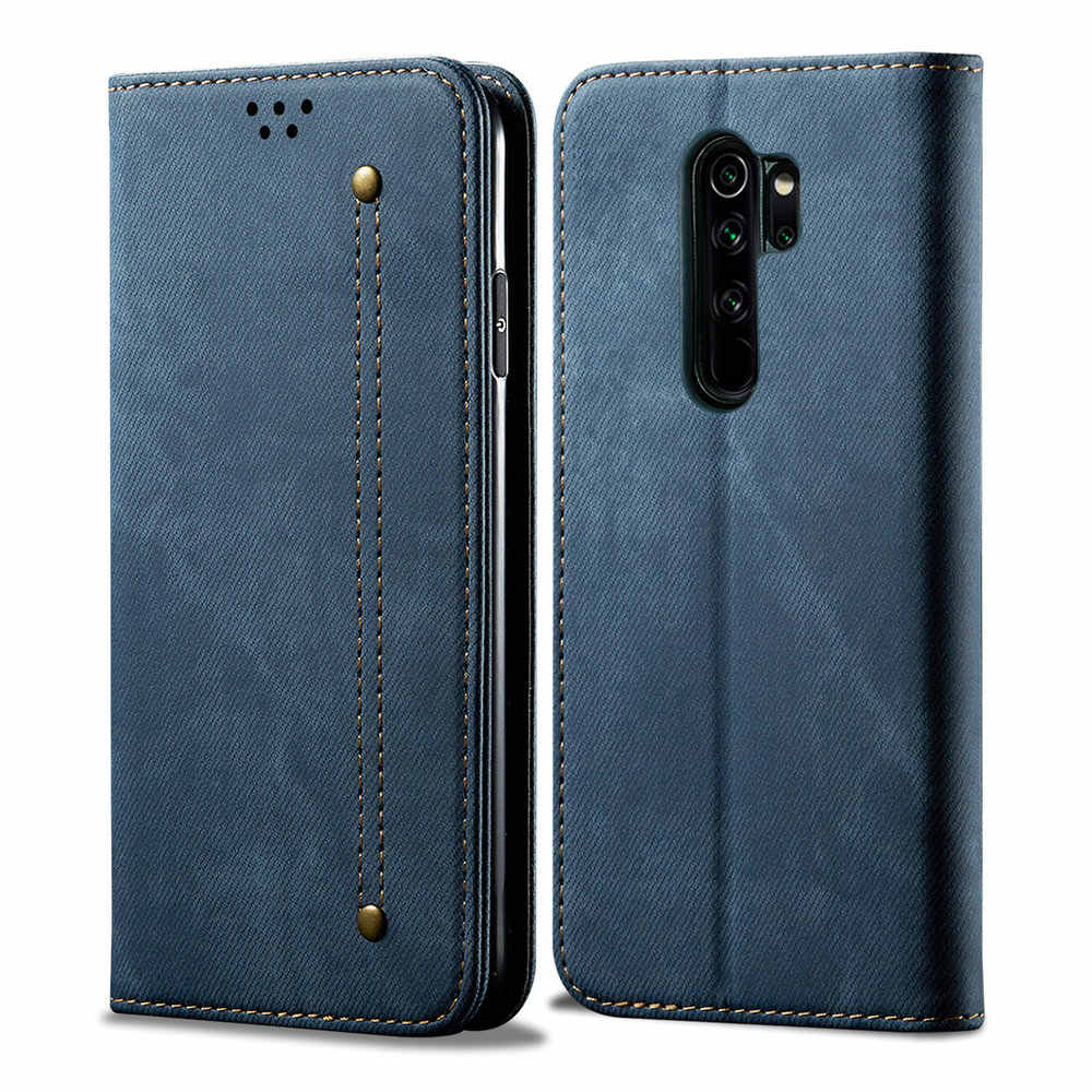 Redmi 7 7A Note 8T Flip Case for Xiaomi Redmi Note 7 Case Luxury Solid Cloth Leather Funda Redmi Note 8 Pro Case 8A A8 A7 Cover