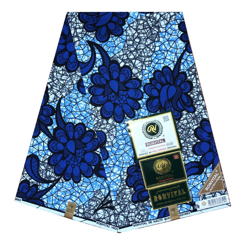Sewing DIY Fabric 100% Cotton Dresses Material 2020 Nigerian Ankara Aso Ebi African Tissus Real Wax Wax 6yard/lot