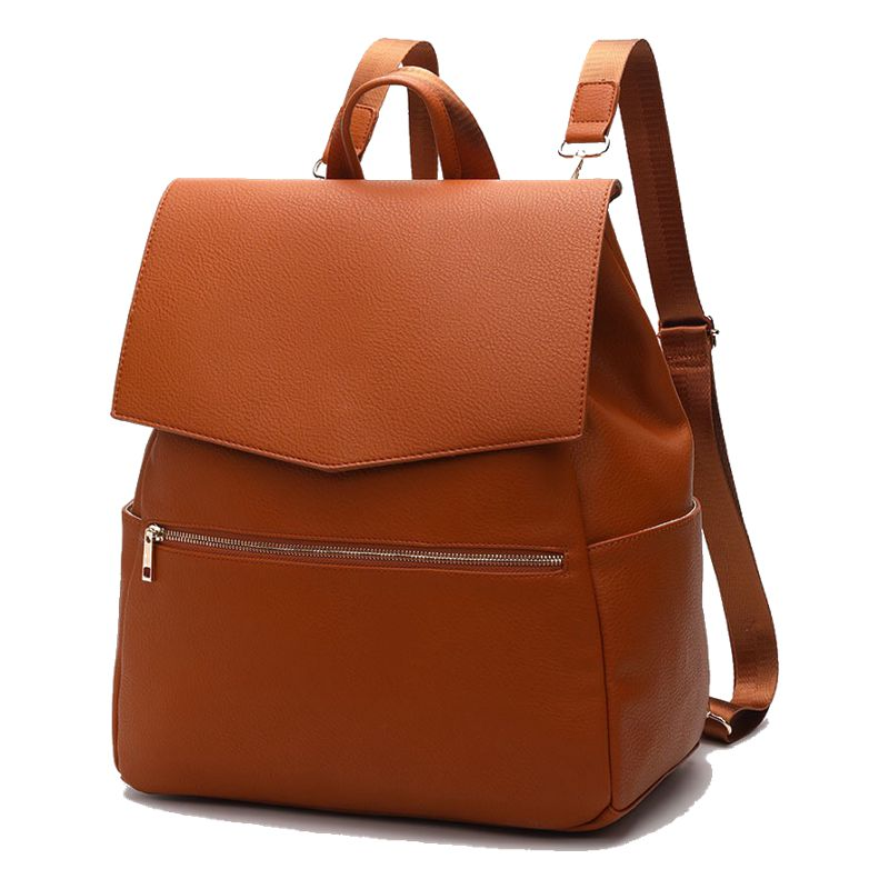 Image 5 - PU Leather Baby Diaper Bag Backpack+Changing Pad+Stroller Straps-in Diaper Bags from Mother & Kids