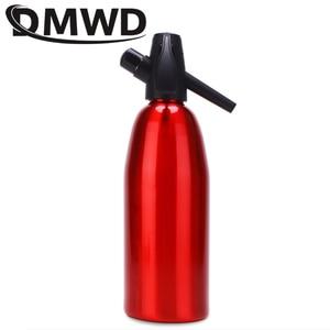 Image 4 - Dmwd manual 1l fabricante de soda co2 dispensador bolha água gerador bebida fresca cocktail máquina soda barra alumínio diy dispensador água