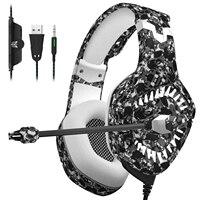 "pc עם סטריאו 3D Surround משחק עבור PS4 PC Gaming אוזניות 3.5 מ""מ אוזניות אוזניות גיימר עם מיקרופון הפחתת רעש (1)"