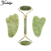 Scraper-Set Jade-Roller Guasha-Board Face-Massage Facial-Lifting Xiuyu-Stone Neck-Thin
