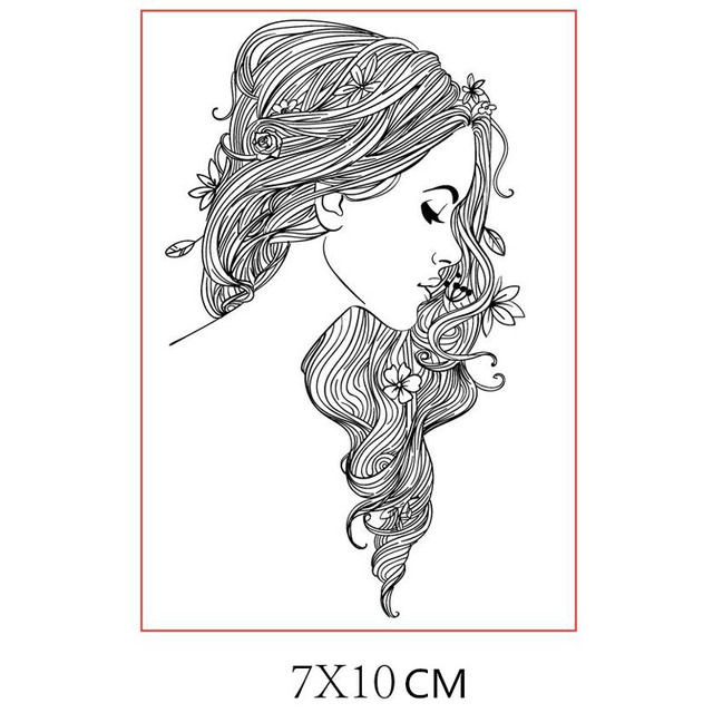 Girl Clear Stamps for Scrapbooking Card Making Silicone Craft Stamps Transparent New 2019