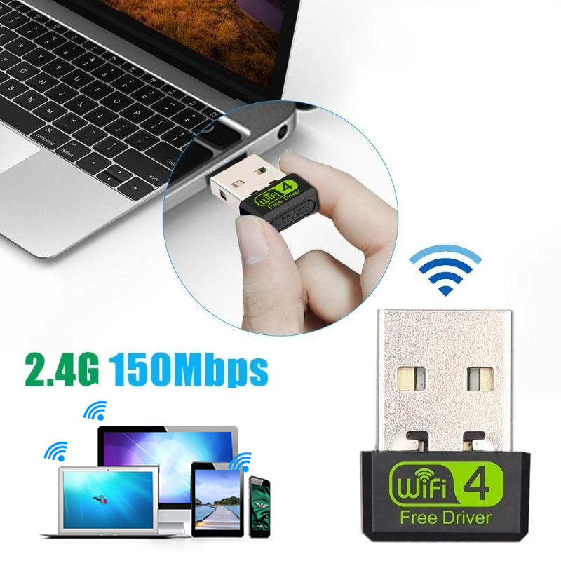 Мини USB WiFi адаптер MT7601 150 Мбит/с Wi-Fi адаптер для ПК USB Ethernet WiFi Dongle 2,4G сетевая карта Antena Wi Fi приемник image