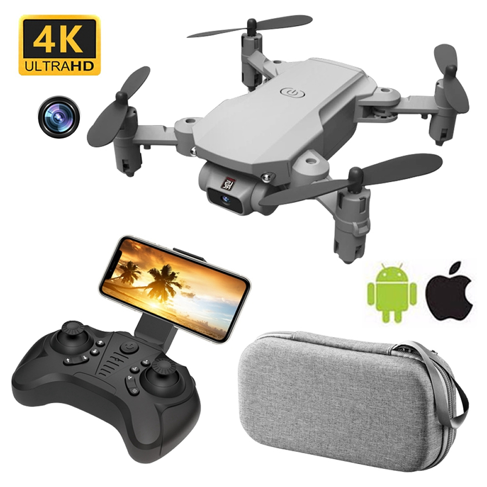 Mini RC Drone with 4K HD Camera WiFi FPV UAV Aerial Photography Helicopter Foldable LED Light Quadrocopter Quality Toy AOSST