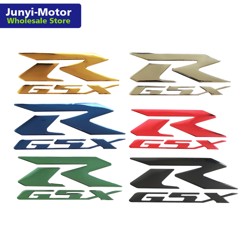 2Pcs 3D Emblem Fender Fairing Tank Logo Decal Sticker For <font><b>Suzuki</b></font> GSX-R <font><b>GSXR1000</b></font> 750 600 K1 K2 K3 K4 K5 <font><b>K6</b></font> K7 K8 Motorcycle Badge image
