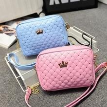 Female bag new fashion rivet small square bag casual wild lady bag shoulder messenger bag цена 2017
