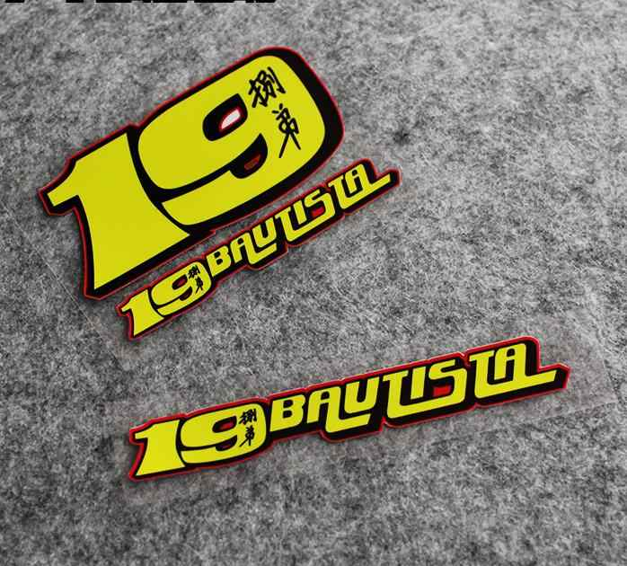 Motorsport Bautista No.19 Stickers Motorfiets Racing Alvaro Bautista Decals Reflecterende Motorfiets Helm Stickers Voor Sctooker
