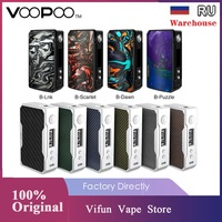 Original VOOPOO DRAG 2 177W TC Box MOD E cigarette & 157W Drag Box Mod w/ US GENE chip No 18650 Battery Vape Box Mod vs LUXE/GEN