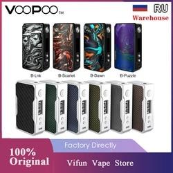 Original VOOPOO arrastrar 2 177W TC caja MOD E-cigarrillo y 157W arrastrar caja Mod w/GEN chip No 18650 Vape batería caja Mod del LUXE/GEN/