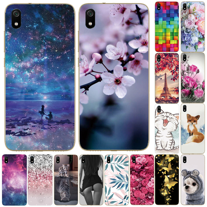 Silicon Case For Xiaomi Redmi 7A 8A Full Protection Soft Tpu Back Cover for Redmi 4A 4X 5 Plus 6A Bumper Phone Shell Bag Coque image