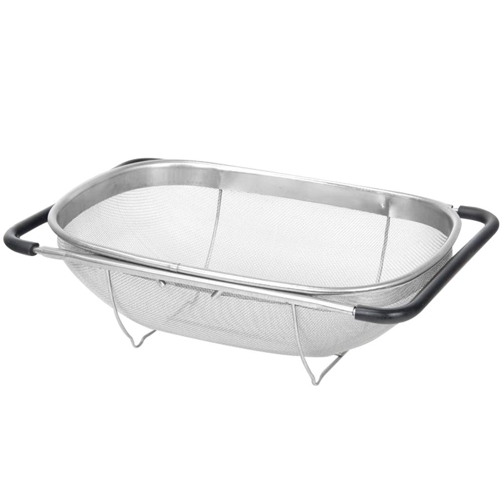 Pull Retractable Drain Basket Rack Stainless Steel Sink Dish Rack Fruits Vegetables Strainer Basket Kitchen Sink Accessories