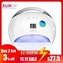 SUNUV SUN6 Thông Minh Đèn Móng LED Đèn UV Máy Sấy Đáy Kim Loại Màn Hình LCD Hẹn Giờ Multicolors Việc Chữa Gel UV Nail NGHỆ THUẬT Dụng Cụ