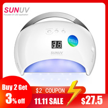SUNUV SUN6 akıllı lamba tırnak LED UV lamba kurutucu Metal alt LCD zamanlayıcı için çok renkli kür UV jel lehçe tırnak sanat araçları
