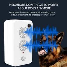 Pet Dog Repeller Anti Barking Device Outdoor Ultrasonic Dog Barking Deterrent USB Rechargeable Bark Control Training Tools L