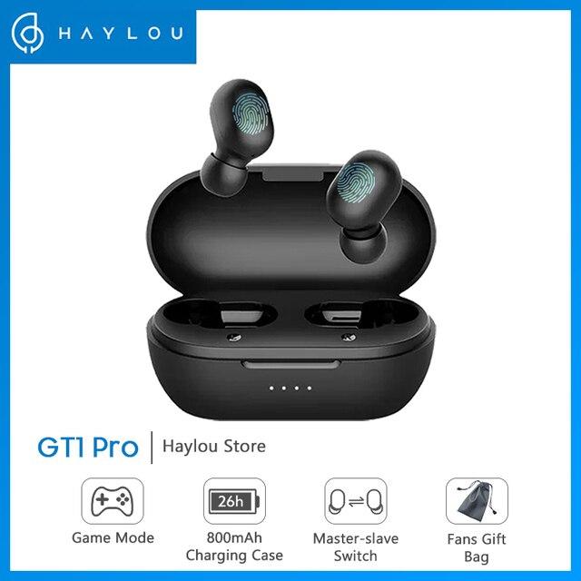 Haylou GT1 Pro Pin Lớn TWS Bluetooth Điều Khiển Cảm Ứng Không Dây Tai Nghe HD Âm Thanh Stereo Với Mic Kép Cô Lập Tiếng Ồn