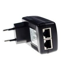 Видеонаблюдение CCTV безопасности 48 В 0.5A 24 Вт POE настенный штекер POE инжектор Ethernet адаптер ip-камера телефон PoE Питание US EU штекер