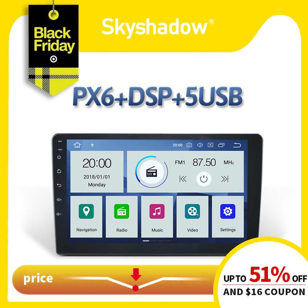 """9 """"10,1"""" DSP PX6 ips Android 9,0 4 Гб + 64 ГБ Автомобильный DVD мультимедийный плеер 1Din для Nissan Универсальный радио gps карта Bluetooth 5 Wifi"""