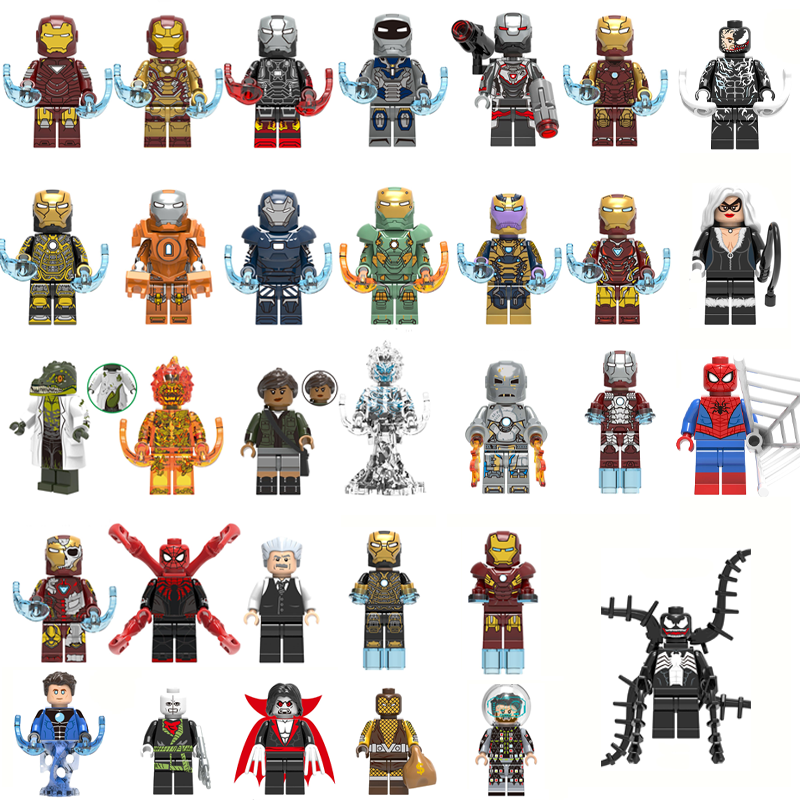 Super Heroes Single Sale Building Block Figures IRON MAN SPIDERMAN VENOM Bricks Toys For Children Compatible With LEgOINGs