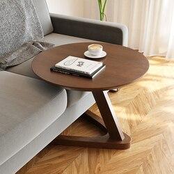 Table basse ronde au design simpliste, meuble de salon, table de chevet