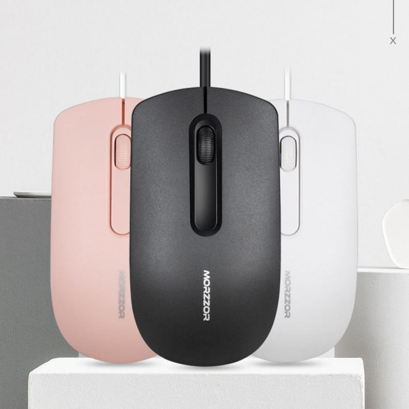 Multiple Colour Black White Pink Gaming Office Mouse 1200 DPI USB Computer Mouse Gamer Mice For PC Laptop Voiced And Silent