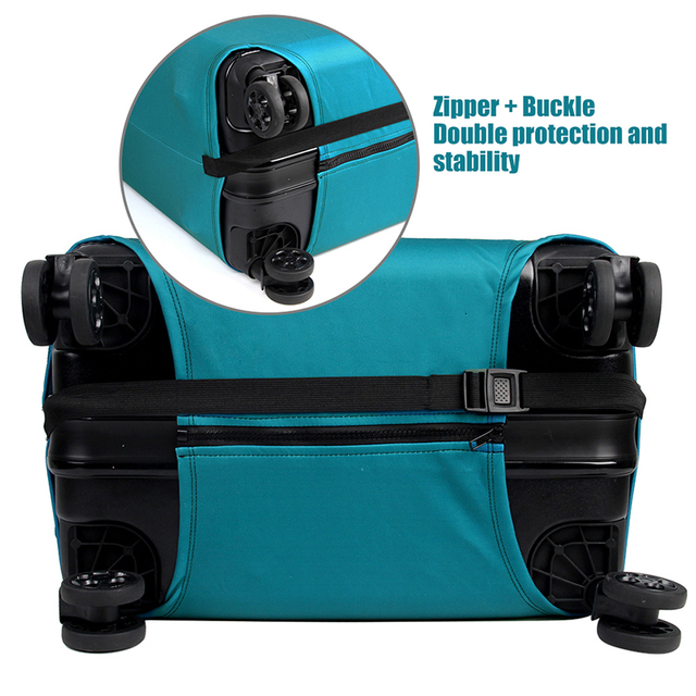 Thicker Travel Luggage Protective Cover Suitcase Case Travel Elastic Luggage Cover Apply to 18-32inch Suitcase 4