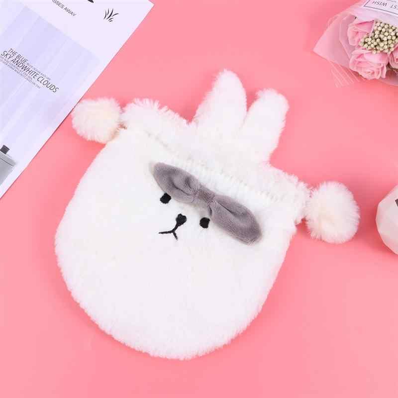 Niedlichen Cartoon Plüsch Lagerung Tasche Kaninchen Ohr Geformt Schmuck Münze Beutel Kordelzug Tasche Beutel Süßigkeiten Halter (Weiß Ausdruck Kaninchen)