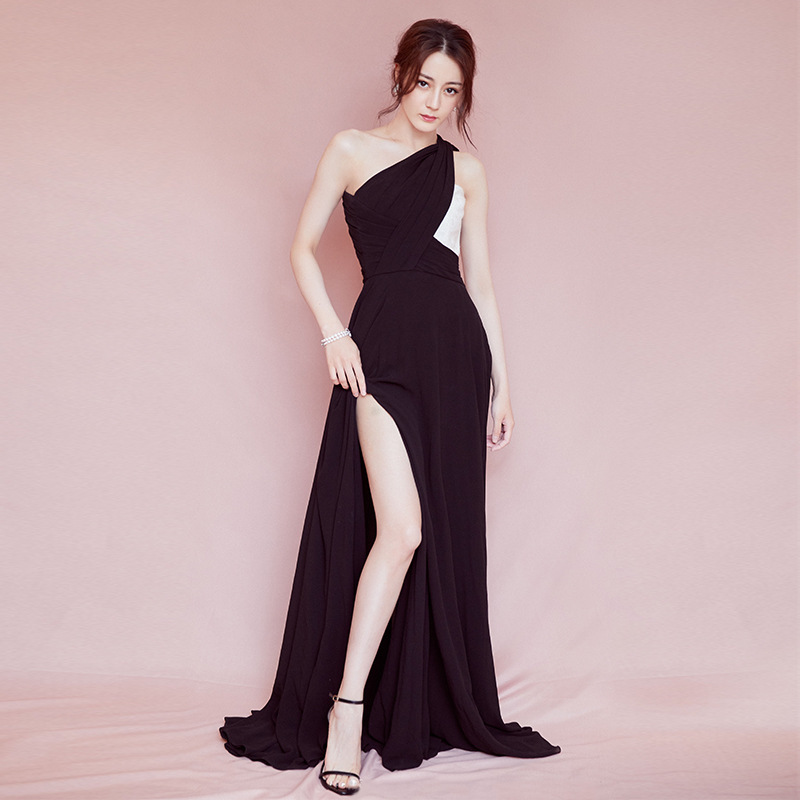 2019 Time-limited Dillon With High Heat And Star Split Sexy Dress Aristocratic Temperament Strapless The Annual Meeting Of Host