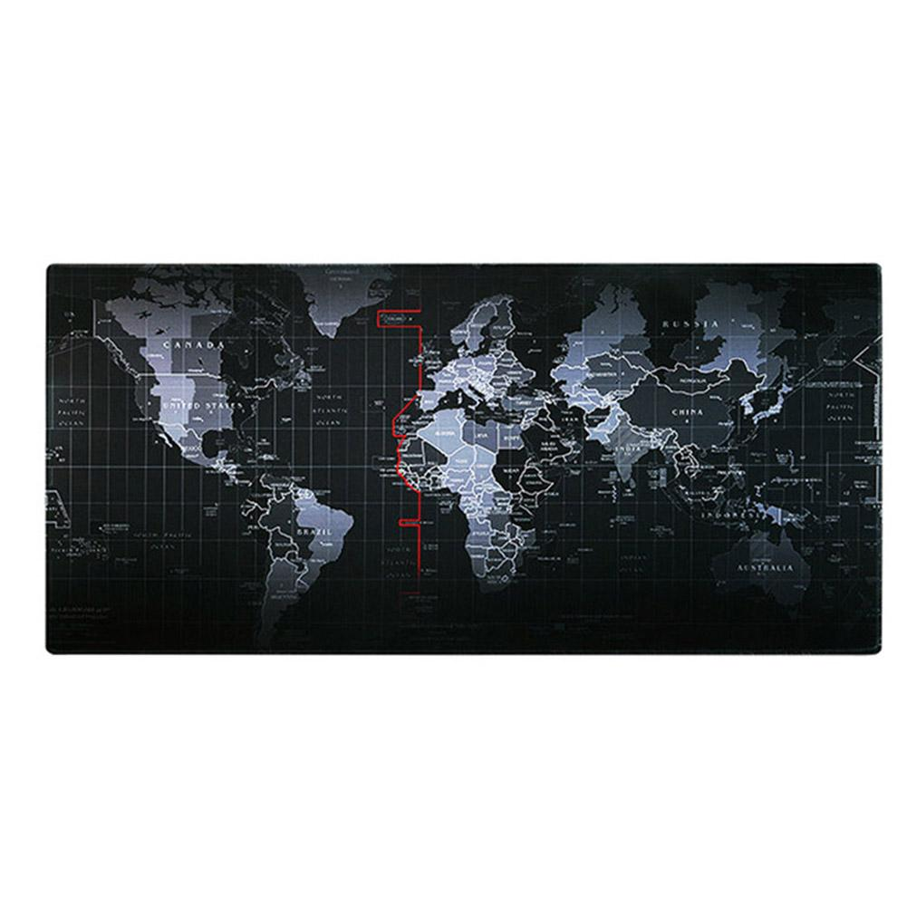 New Anti-Slip World Map Gaming Mouse Mice Keyboard Pad Mat Cushion For PC Laptop