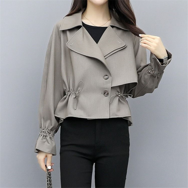 Spring Autumn Trench Coat Women Short Coat Slim Trench Coat For Women Plus Size Women Coats And Coats Women Cloth Windbreakers