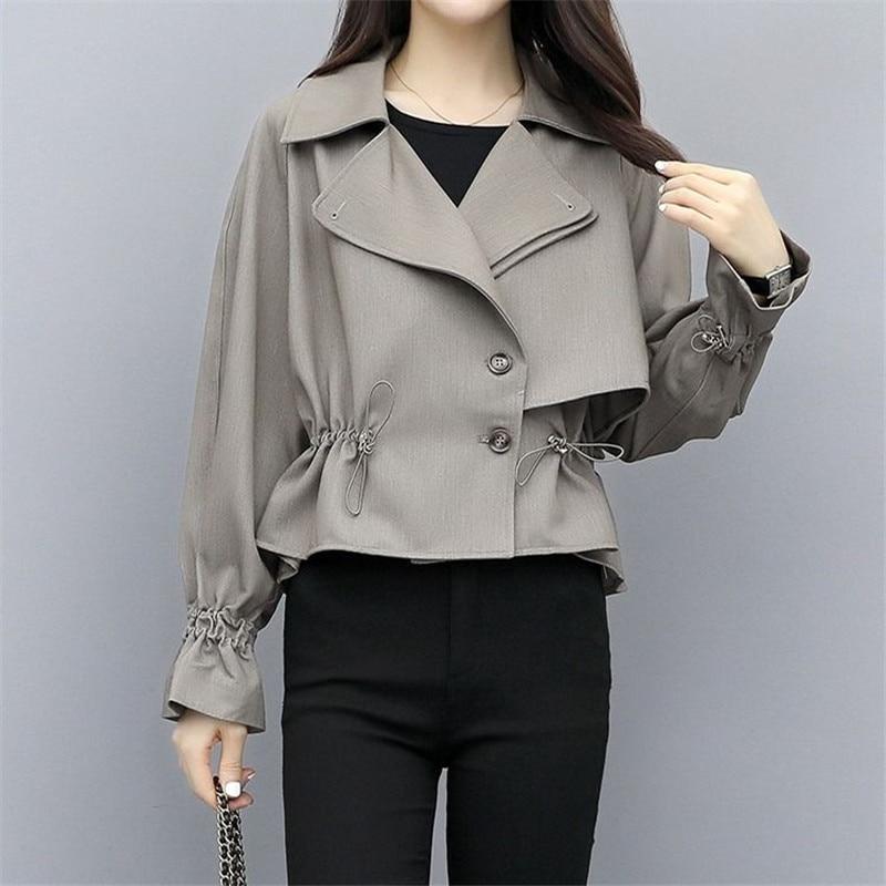 Spring Autumn Trench Coat Women Short Coat Slim Trench Coat For Women Plus Size Women Coats And Coats Women Cloth Windbreakers