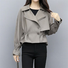 Spring Autumn Trench Coat Women Short Coat Slim Trench Coat