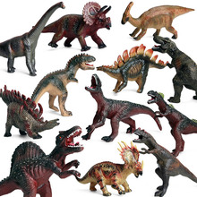 Original Dinosaur World Park Action Figures Big Soft Prehistoric Jurassic Velociraptor Mosasaurus Model Collection Kid Toy недорого