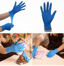100PCS/SET Disposable Hand Gloves Waterproof Food Repast Surgery Rubber kitchen Beauty Salon Dedicated Work Gloves PVC Thicken