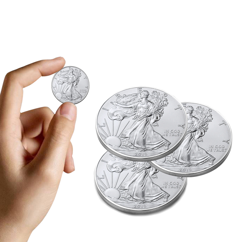 Game Collection Cards Silver Goddess Of Liberty 1 US Dollar Eagle Coins Commemorative Collection Coin