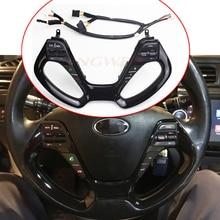 นำทาง Bluetooth Cruise Control พวงมาลัยสวิทช์ Auto อะไหล่ปุ่มพวงมาลัยสำหรับ Kia K3