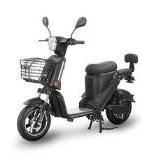 Motocicleta elétrica scooter elétrico com assento da motocicleta elétrica para adultos bateria de lítio motocicleta ciclomotor preto