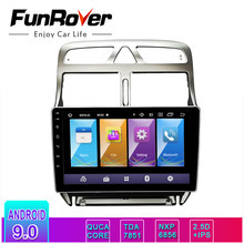 FUNROVER IPS+2.5D Android 9.0 For Peugeot 307 2002 - 2008 - 2013 Car Radio Multimedia Video Player Navigation GPS 2 din dvd RDS(China)