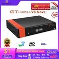 Новый спутниковый декодер GTmedia V8X, обновленный GTmedia V8 Nova DVB-S2 Freesat V9 Super H.265 HD, встроенный Wi-Fi, без приложения