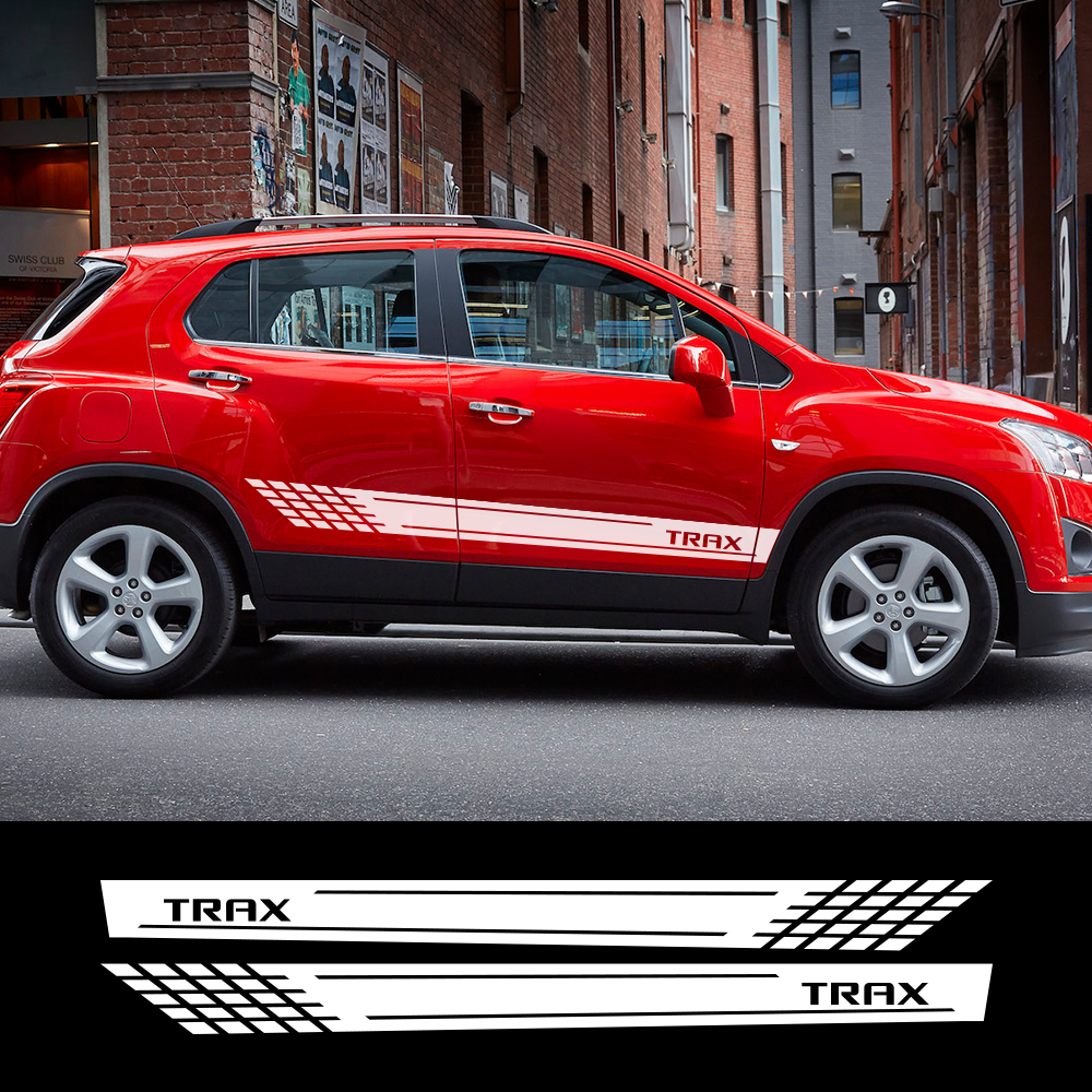 2pcs Car Stickers Auto Stylish Side Vinyl Film Decals Styling Decoration Tuning For Chevrolet Trax Automobiles Car Accessories