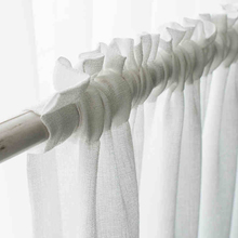 Tulle Curtains for Living Room Bedroom Solid Linen Fabric Sheer Curtain for Kitchen Thick Voile Curtain Treatment Blinds Drapes floral curtain for living room print voile for window bedroom linen curtain blackout drapes kitchen treatment pastoral x513 30