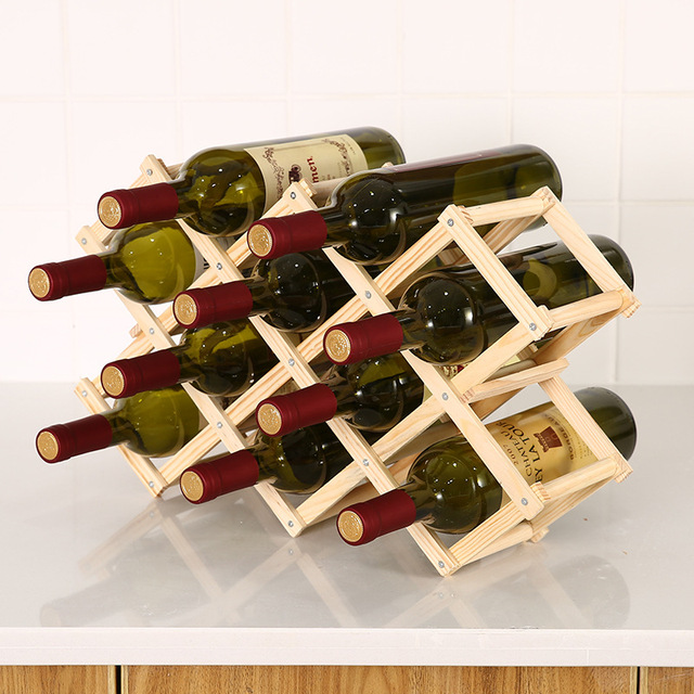 Collapsible Wooden Wine Rack 4