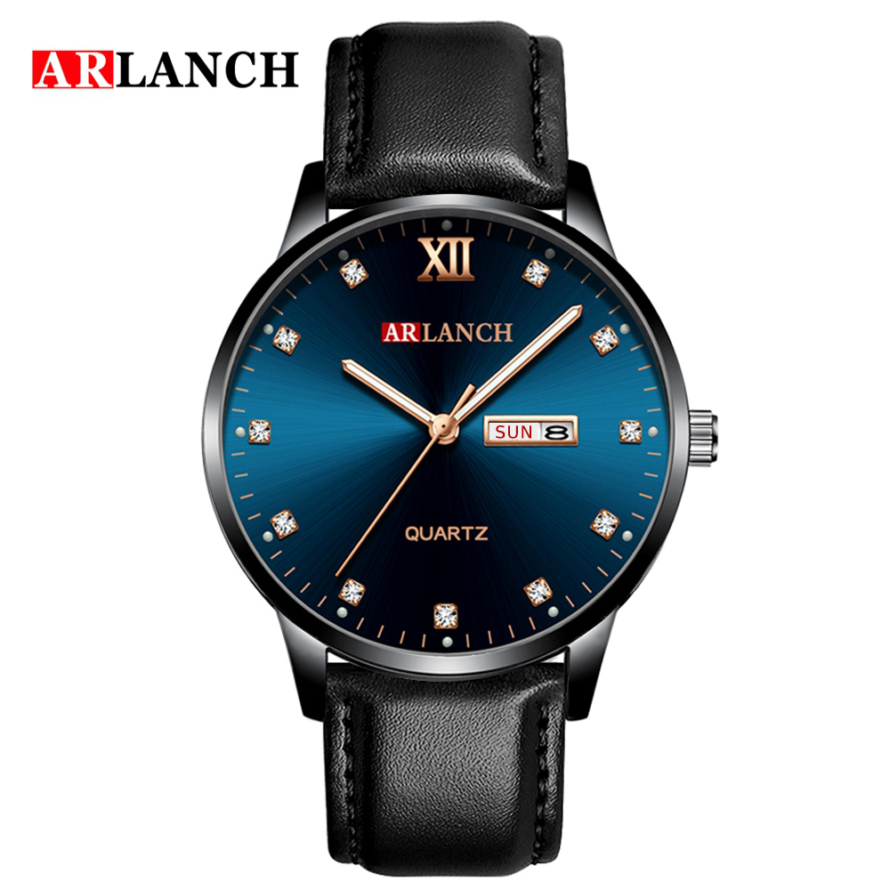 Мужские часы модные бизнес алмаз водонепроницаемые мужские кварцевые