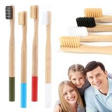 1 pièces naturel écologique bambou brosse à dents en bois Pro doux soies brosses à dents adulte soins bucco-dentaires outils voyage livraison directe